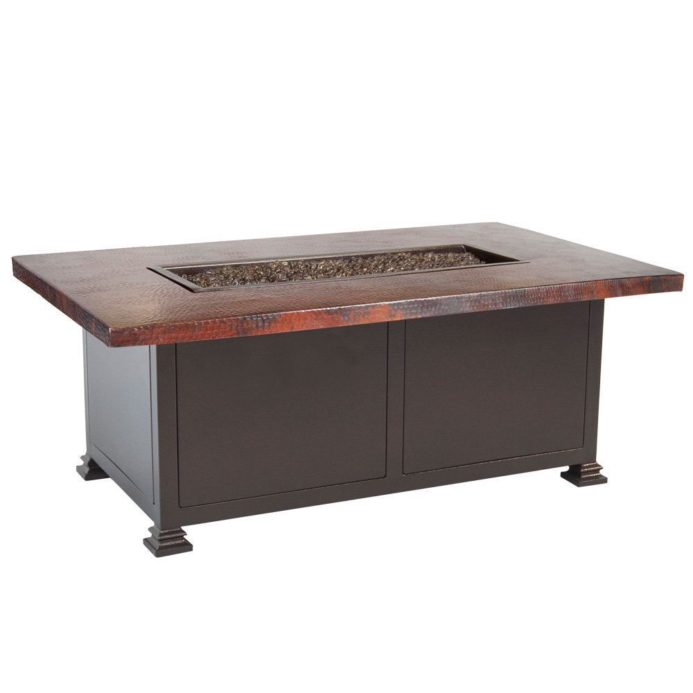 "OW Lee OW Lee 30""x50"" Occasional Height Hammered Copper Fire Pit - 5130-3050O"