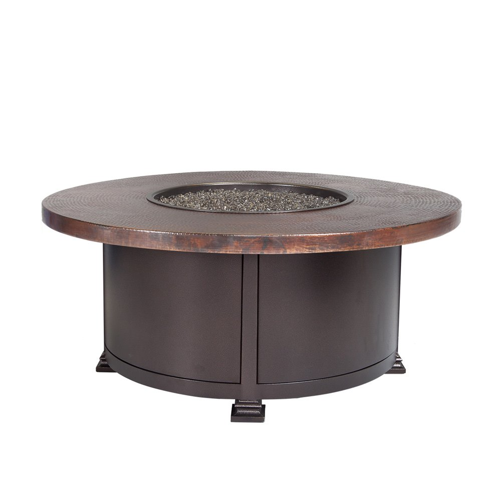 "OW Lee OW Lee 36"" Round Occasional Height Hammered Copper Fire Pit - 5130-36RDO"