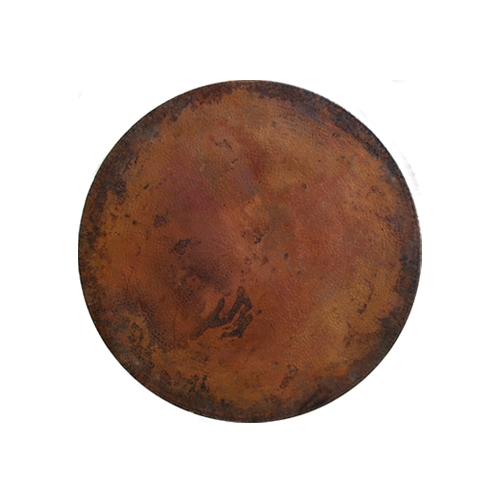 OW Lee Hammered Copper 48 Inch Round Table Top   CP 48