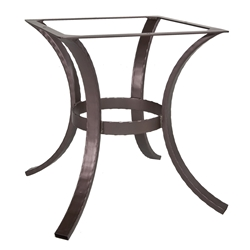 OW Lee Hammered Iron Dining Table Base - HI-DT03