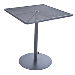 "OW Lee Lennox 34"" Square Bar Table with Pedestal Base - 39-BT34SQ"