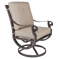 OW Lee Luna Club Swivel Rocker Dining Arm Chair - 32124-SR