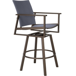 OW Lee Marin Flex Comfort Swivel Rocking Bar Stool - 37163-SBS