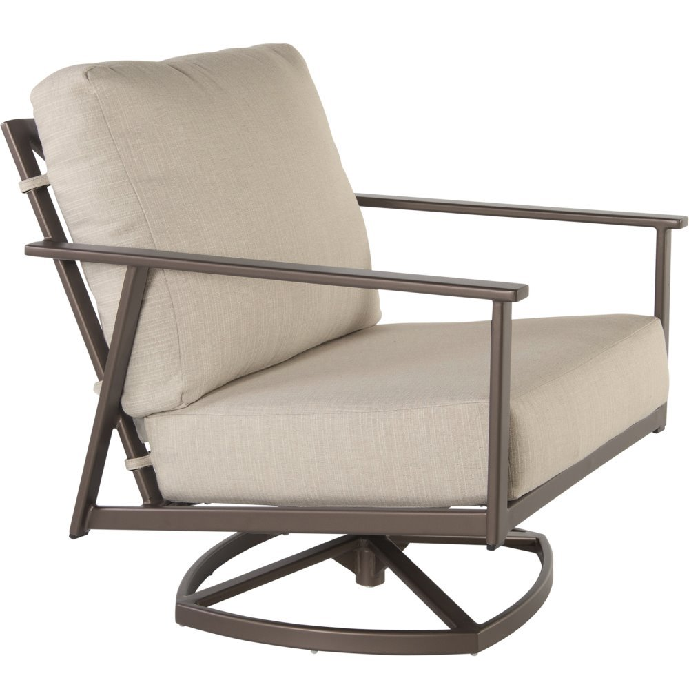 OW Lee Marin Cushion Swivel Rocker Lounge Chair - 37165-SR