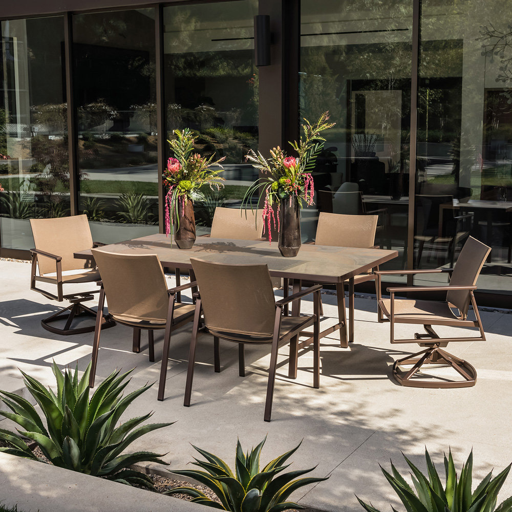 OW Lee Marin Modern Aluminum Outdoor Furniture Set for 6 - OW-MARIN-SET1
