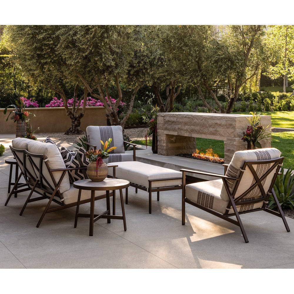 OW Lee Marin Modern Aluminum Outdoor Furniture Set - OW-MARIN-SET4