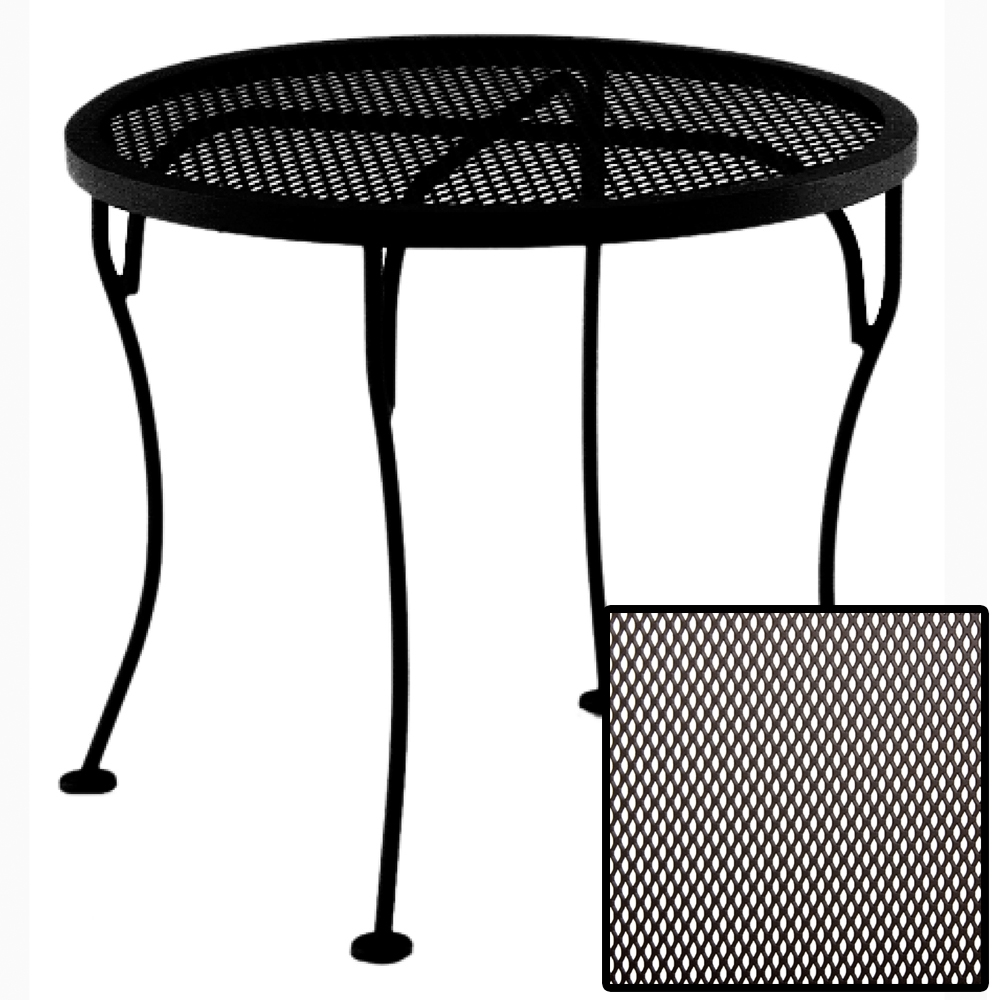 OW Lee Micro Mesh Round Side Table - 24-MMST