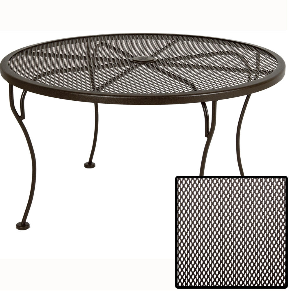 OW Lee Micro Mesh 36 inch Round Side Table - 36-MMSTU
