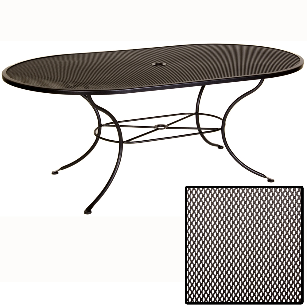 OW Lee Micro Mesh 72 inch by 42 inch Oval Dining Table - 4272-OVMMU