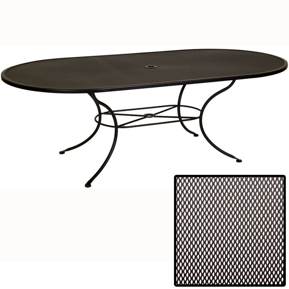 OW Lee Micro Mesh 84 inch by 44 inch Oval Dining Table - 4484-OVMMU