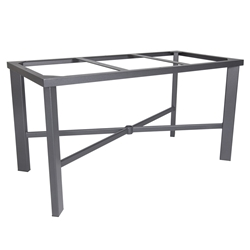 Modern Aluminum Rectangle Dining Table Base