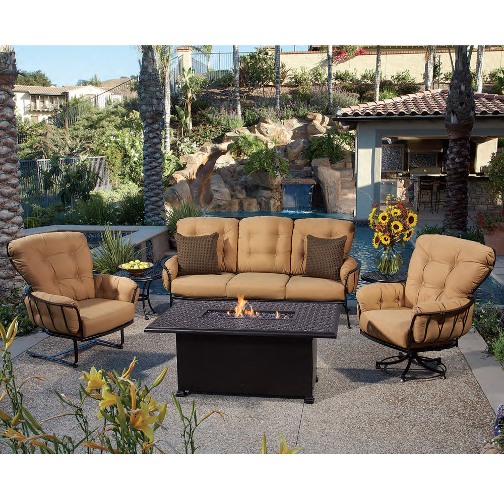 Elegant OW Lee Monterra Sofa Set With Richmond Cast Fire Table   OW MONTERRA SET11