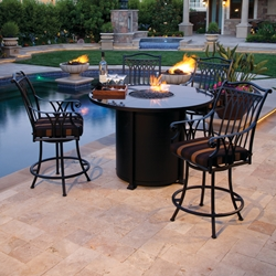 OW Lee Montrachet Counter Height Fire Pit Set