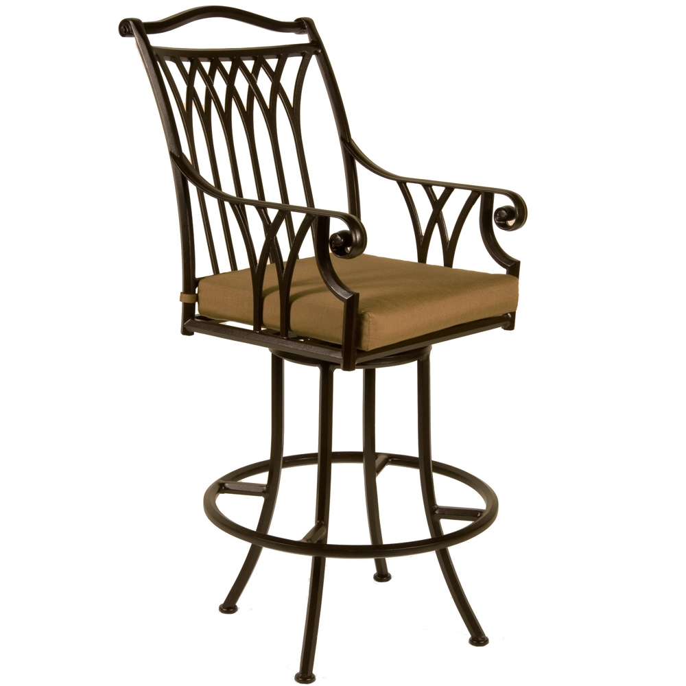 OW Lee Montrachet Swivel Counter Stool with Arms - 1053-SCS