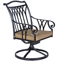 OW Lee Montrachet Swivel Rocker Dining Arm Chair - 1053-SR