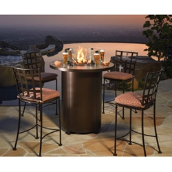 OW Lee Casa Outdoor High Top Fire Table Set - OW-BISTRO-CASA-SET4