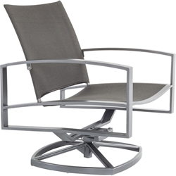 OW Lee Sling Swivel Rocker Lounge Chair - 49162-SR
