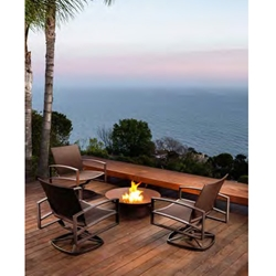 OW Lee Pacifica Sling Lounge and Fire Pit Set