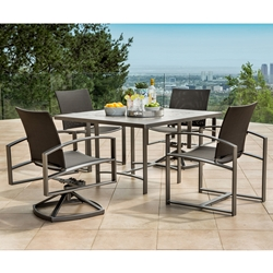 OW Lee Pacifica Modern Patio Dining Set with Flex Slings