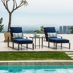 OW Lee Pacifica 3 Piece Chaise Set with Rio Side Table
