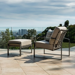 OW Lee Pacifica Lounge Chair and Ottoman Set