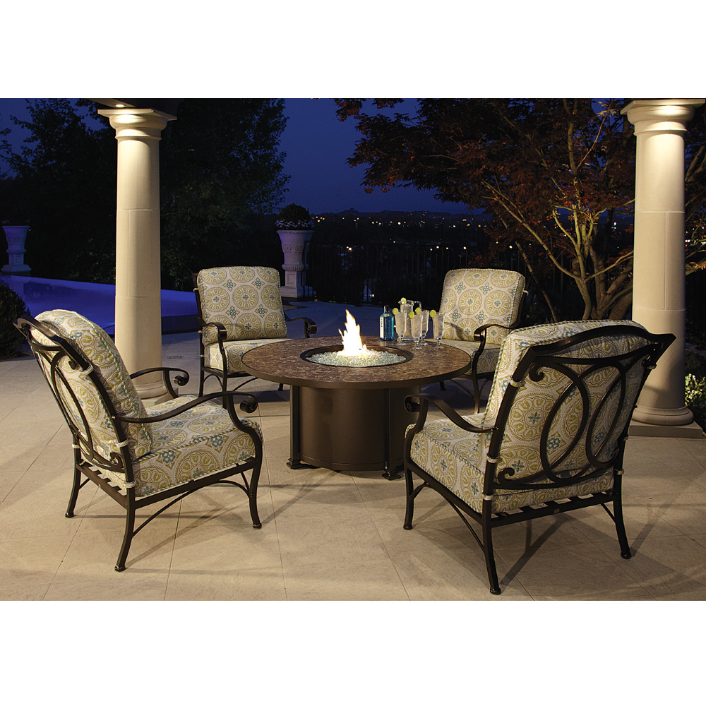 OW Lee Palisades Fire Pit Set With Lounge Chairs   OW PALISADES SET5