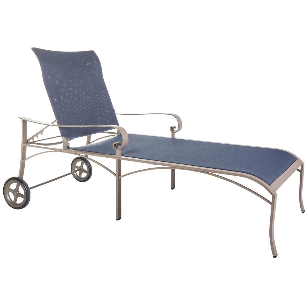 OW Lee Pasadera Sling Chaise Lounge with Wheels - 86188-CHW