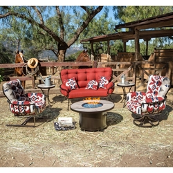 OW Lee Pendleton Mini Monterra Fire Pit Table Set - OW-PENDLETON-SET4