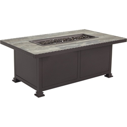 "OW Lee  Pendleton Classico-W 30""x 50"" Occasional Height Santorini Iron Fire Pit With Hammered Rim - PD5110-3050O"