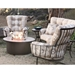 Curved seat deep seating outdoor furniture