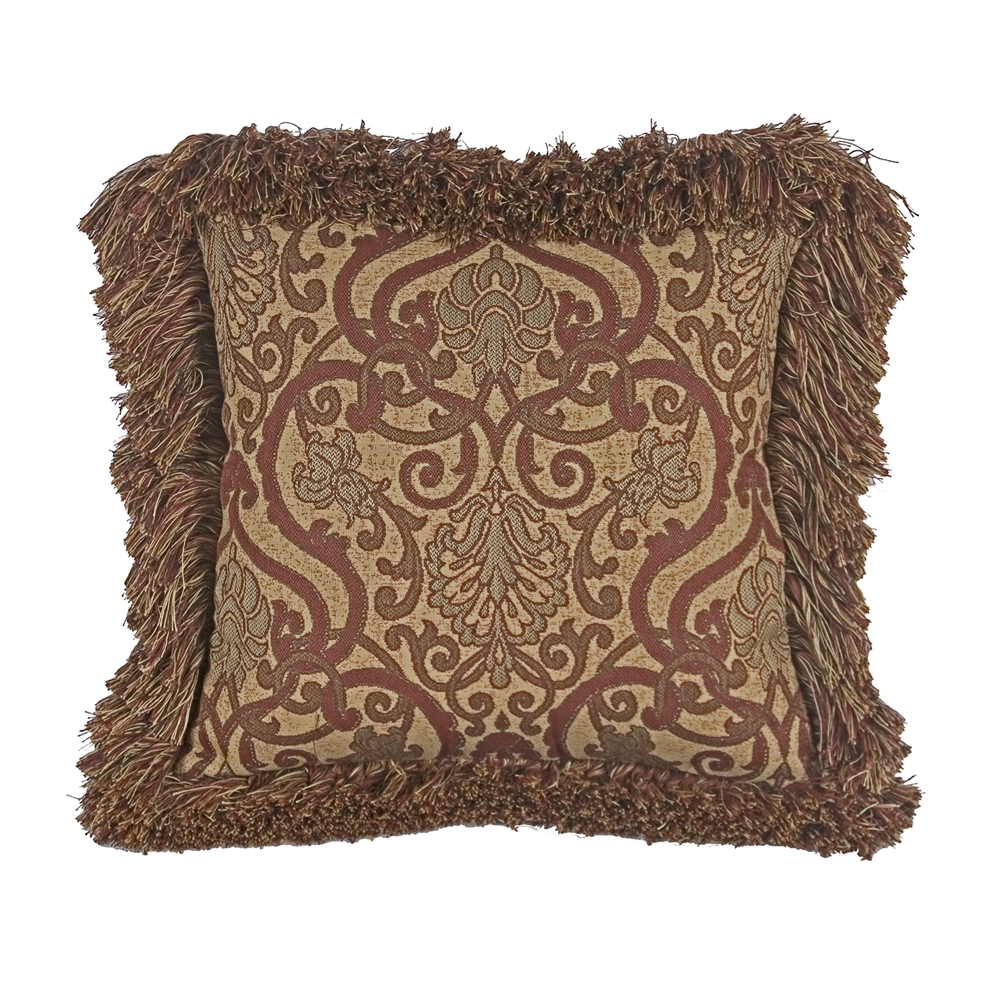 OW Lee 15 inch Square Throw Pillow with Decorative Trim - TP-1515W