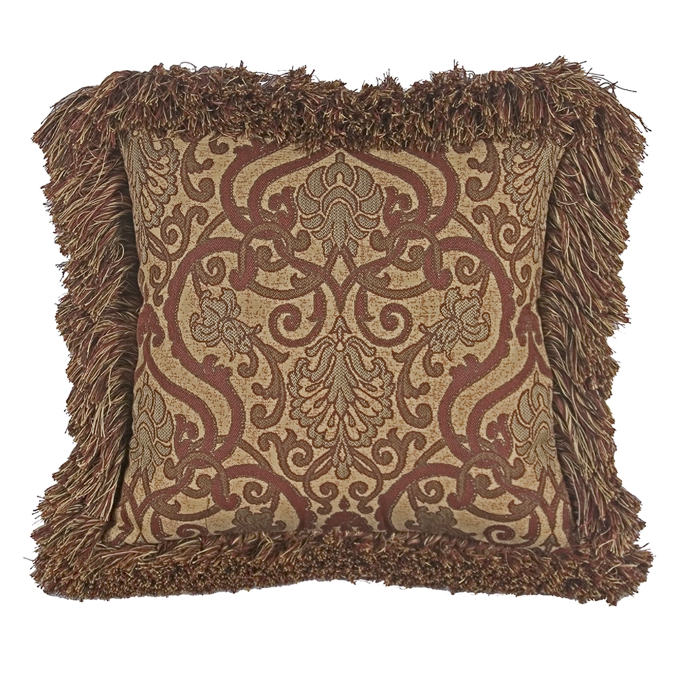 OW Lee 21 inch Square Throw Pillow with Decorative Trim - TP-2121W