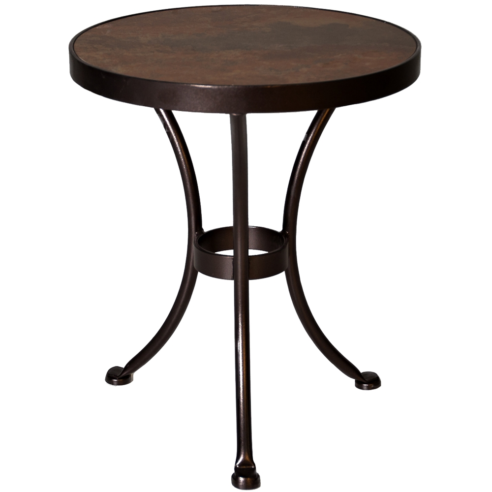 OW Lee 20 Inch Round Porcelain Top Side Table - 51-LT20