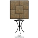 "24"" Square Porcelain Tile Top Bistro Table - P24SQ-DT01-BASE"
