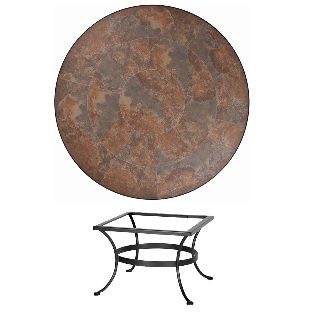 Ow Lee 42 Round Porcelain Tile Top Chat Table P 42 Lt03 Base