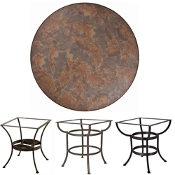 OW Lee 42 inch Round Porcelain Tile Top Dining Table - P42-XX-DT03