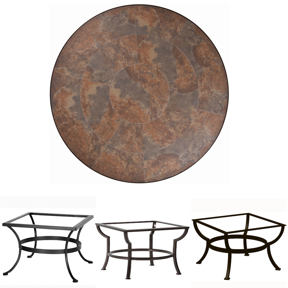 OW Lee 42 inch Round Porcelain Tile Top Coffee Table - P42-XX-OT03