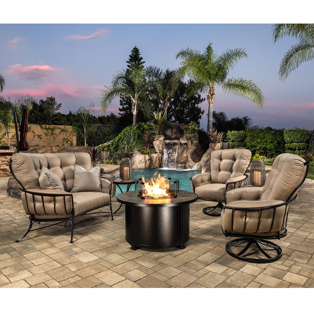 Ow Lee Quick Ship Monterra Swivel Rocker And Fire Table