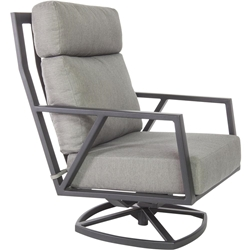 OW Lee Quick Ship Aris Swivel Rocker Lounge Chair - QS-27175-SR-GS06