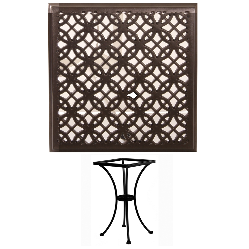 OW Lee 24 inch Square Richmond Cast Top Bistro Table - A-24SQC-DT01-BASE