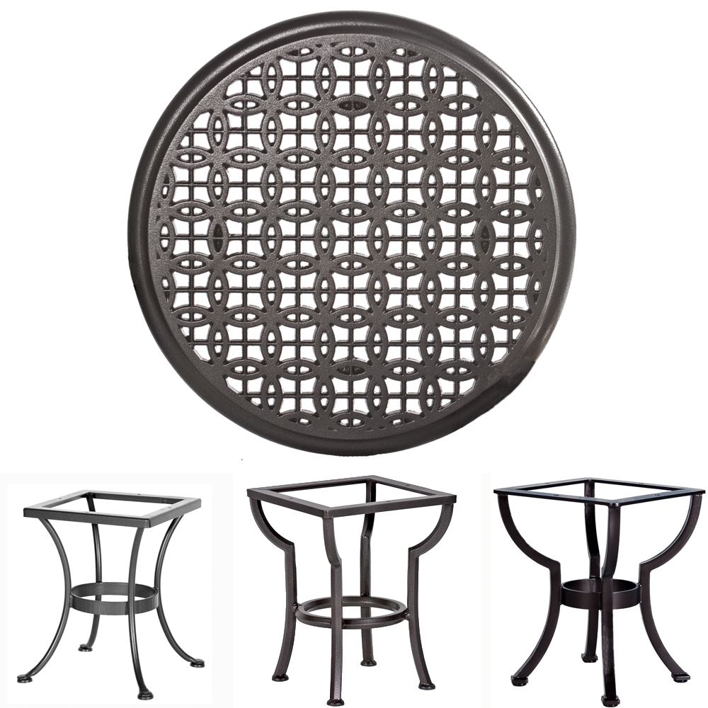 OW Lee 24 inch Round Richmond Cast Top Side Table - A24C-ST01