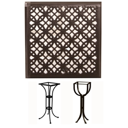 OW Lee 24 inch Square Richmond Cast Top Bar Table - A24SQC-BT01