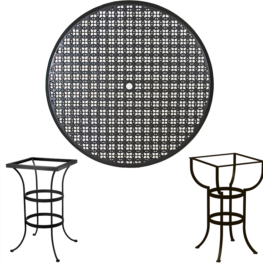 OW Lee 48 inch Round Richmond Cast Top Bar Table - A48CU-BT03