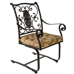 OW Lee San Cristobal Spring Base Dining Arm Chair - 653-SB
