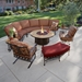 OW Lee San Cristobal Curved Sectional Set with Fire Pit Table - OW-SANCRISTOBAL-SET7