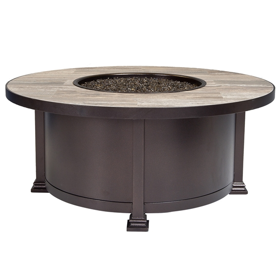 "OW Lee 42"" Round Santorini Occasional Fire Pit Table - 5110-42RDO"