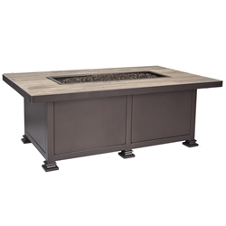 "OW Lee 30"" x 50"" Santorini Occasional Height Fire Table - 5110-3050O"