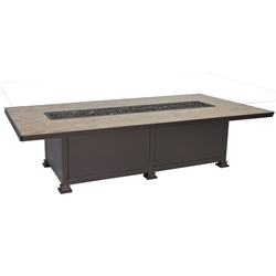 "OW Lee Santorini 42"" X 72"" Occasional Height Fire Pit Table - 5110-4272O"