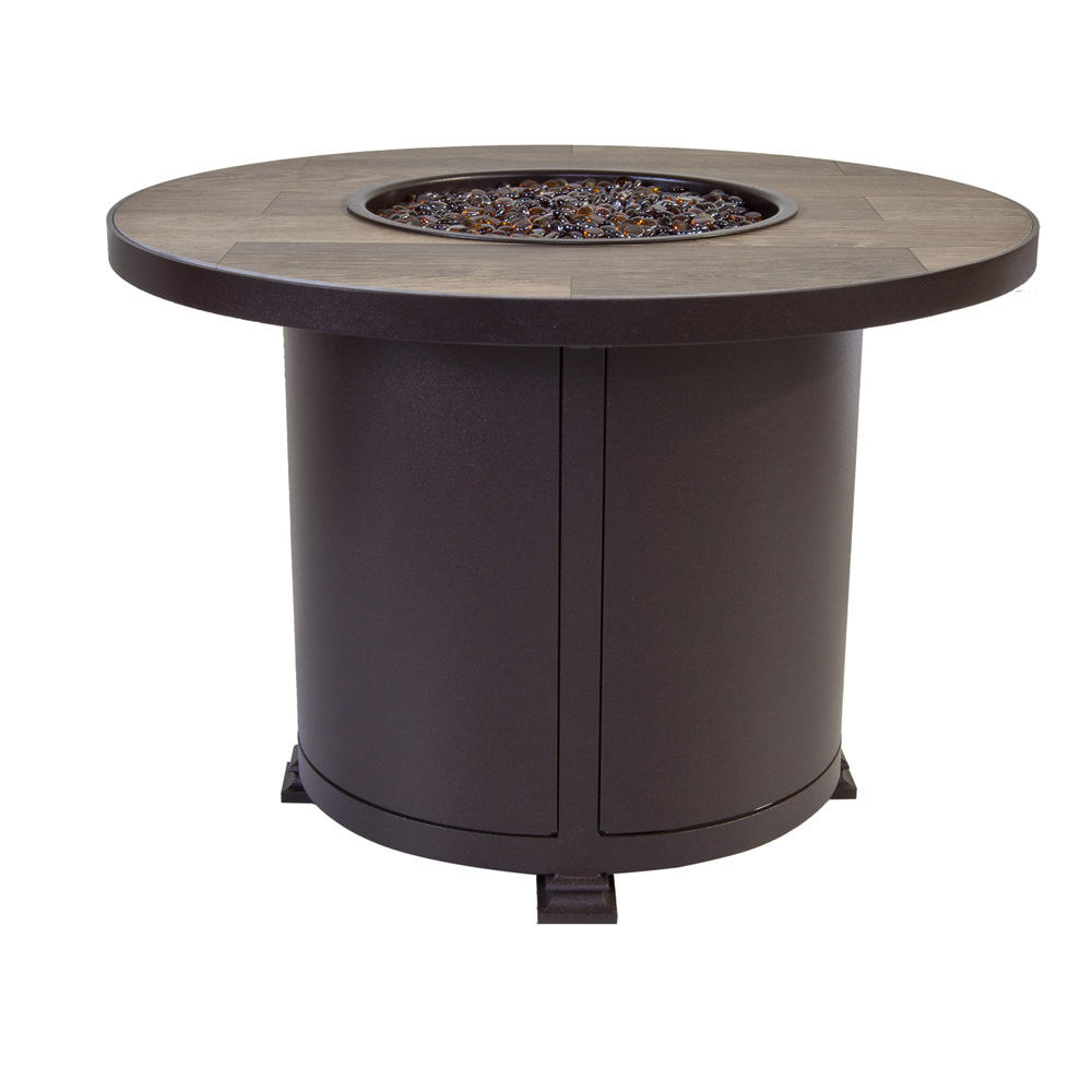"OW Lee Santorini 36"" Round Chat Height Fire Pit Table - 5110-36RDC"