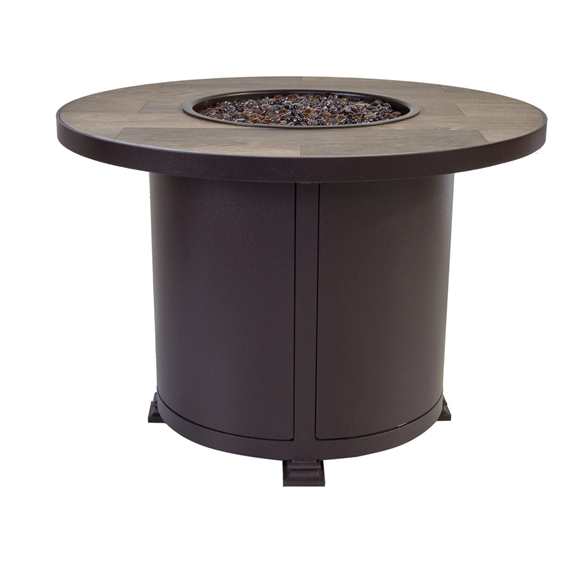 Ow Lee Santorini 36 Quot Round Chat Height Fire Pit Table